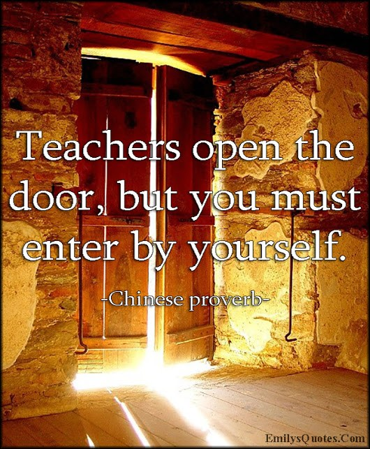 Teacher open the door, students must enter themselves.