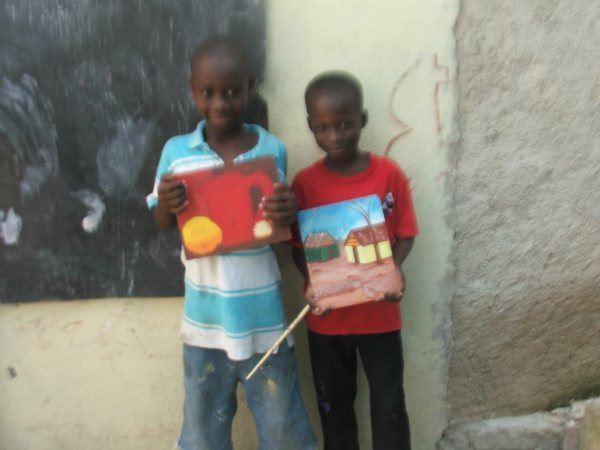 Students from ELT in Haiti