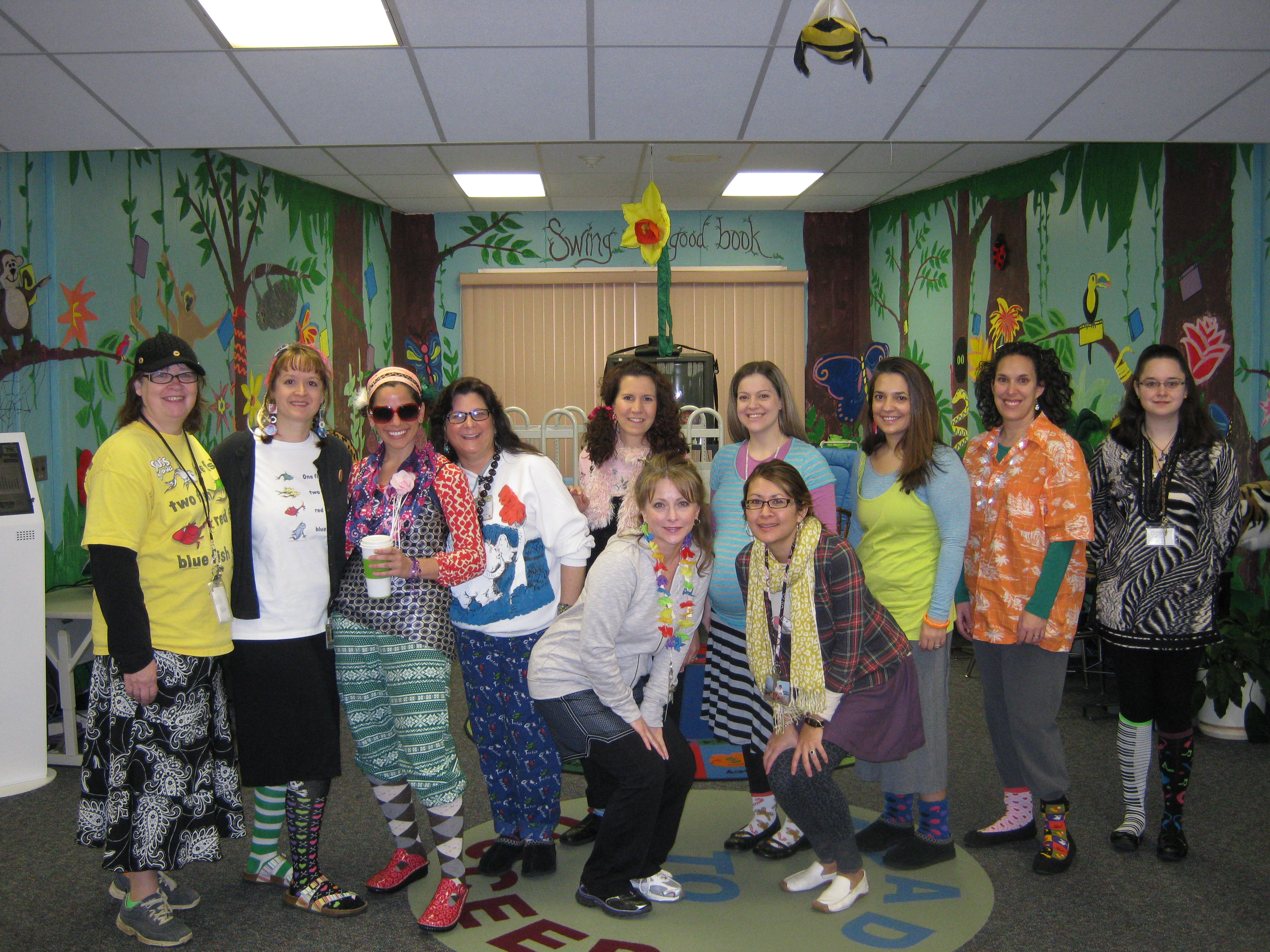 It's Wacky Wednesday dress up day for teachers too!